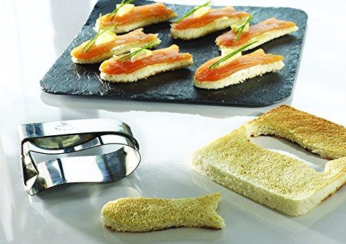Découpoir poisson-toast professionnel en inox 75 x 30 mm