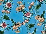 Jersey-Stoff mit Gänseblümchen-Muster, Meterware,