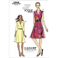 VOGUE PATTERNS V8646 - Patrones de Costura para Vestidos de Mujer (Talla E5: 44-52)