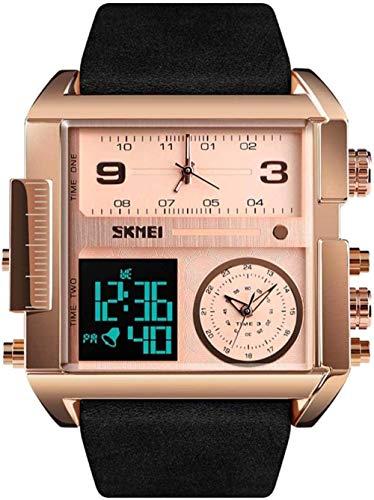 JSL Reloj deportivo para hombre y niño, reloj digital militar, resistente al agua, cronómetro, reloj despertador para correr, reloj de pulsera, color dorado y negro