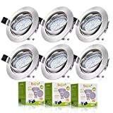 Bojim 6x Foco Empotrable Blanco Natural 4500K Led Gu10 Luz de Techo 6W equivalente a incandescente...