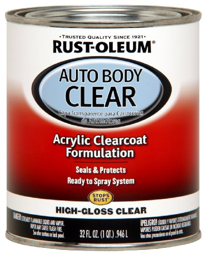 Rust-Oleum Automotive 253522 32-Ounce Autobody Paint Quart, Gloss Clear Coat