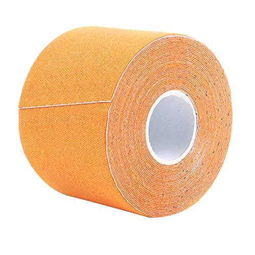 MoreChioce Kinesiologie Tape, 2.5cm x 5m Wasserfest Sport Tape Elastisch Sporttape Kinesio Tape,Orange