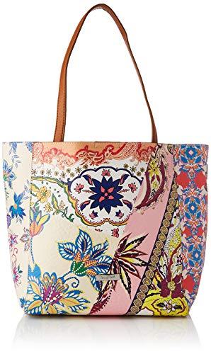 Desigual PU Shopping Bag, Bolsa de la Compra para Mujer, Rojo, U