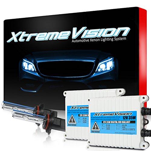 XtremeVision 35W AC Xenon HID Bundle with Slim AC Ballast (1 Pair) and 9005 10000K - 10K Dark Blue Xenon Bulbs (1 Pair)
