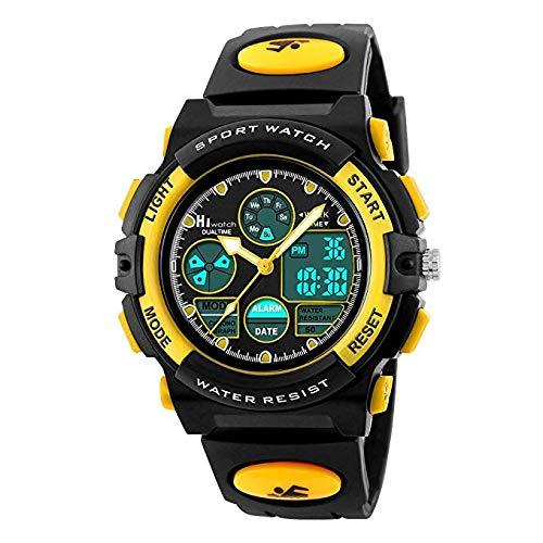 Hiwatch Sportuhren für Kinder wasserdichte Digital-Armbanduhr (C)