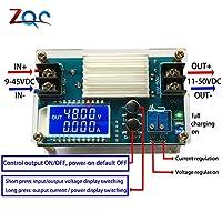 LCDディスプレイ5Aブースト定電圧定電流電源DC-DCバッテリー充電器モジュール80W出力11V-50V 12V 24V 48V