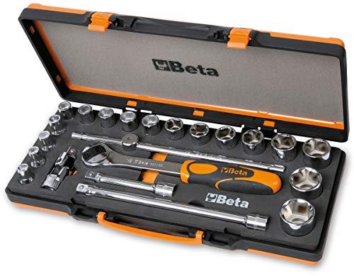 Beta 920A/C17M Set di 17 Chiavi a Bussola Esagonali e 5 Accessori in Termoformato Morbido, in Cassetta di Lamiera