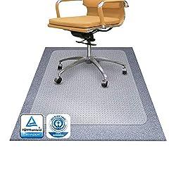Bodenschutzmatte PET ®Performa für Teppichböden mit TÜV und Blauer Engel - 4 Größen wählbar - 90x120cm