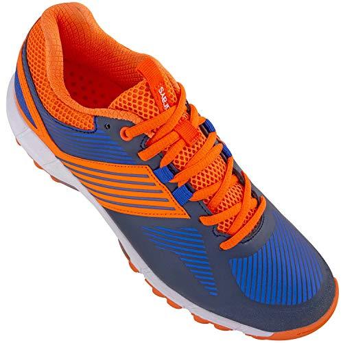 Grays Flash 2.0 Junior Hockeyschuhe, Marineblau / Orange, - Marineblau / Orange - Größe: 35 1/3 EU