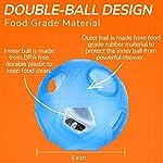 LumoLeaf Balle de jouet Dog Treat, boule interactive de distribution de nourriture de avec le contrôle de difficulté pour les petits et moyens chiens et chats, 12.5cm, Blue #2