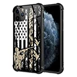 iPhone 11 Pro Max Case,Duck Hunting Flag Camo Hunter Pattern Tempered Glass for Girls Men Boy [Anti-Scratch] Fashion Pattern Design Cover Case for iPhone 11 Pro Max(6.5 inch)