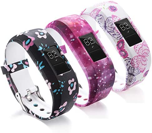Compatible with Garmin Vivofit JR Bands for Kids Colorful Adjustable Silicone Replacement Bands product image