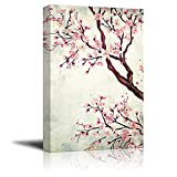 wall26 Canvas Wall Art - Watercolor Painting Style Cherry Blossom - Giclee Print Gallery Wrap Modern Home Art Ready to Hang - 16x24 inches