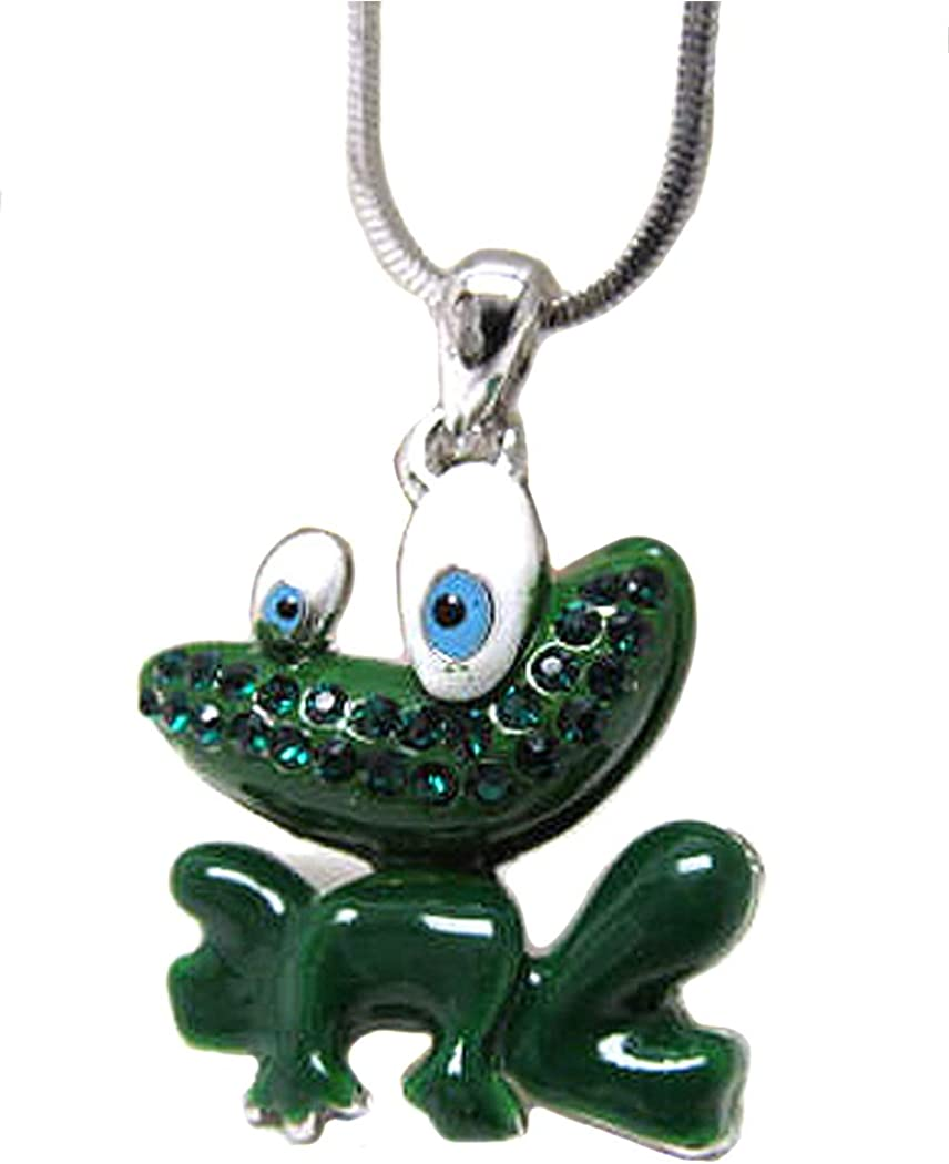 Fashion Jewelry ~ Green Frog Pendant Necklace for Women Girls Teens Girlfriends Birthday Gifts