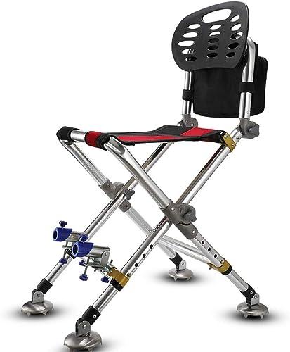 Chaise de pêche Chaise de pêche Chaise de pêche Portable Pliable et réglable siège Polyvalent Tabouret de pêche Plage terrasse Jardin Camping