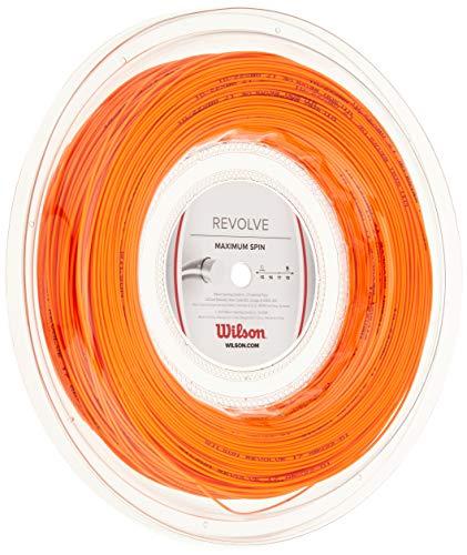 Wilson WRZ906300 Corda da Tennis Revolve, Bobina 200 m, Unisex, Arancione, 1.25 mm