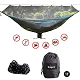 Unigear 11' Hammock Bug Net Mosquito Net, No See Ums and Insects - Size 132' x 55' Fit for All Camping Hammocks. Breathable and Fast Setup (Black/Dark)