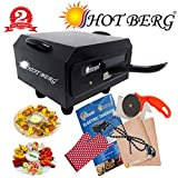 HotBerg Hot Berg Steel Element 1500W Small Electric Tandoor Combo Hand Gloves, Grill Stand, Magic...