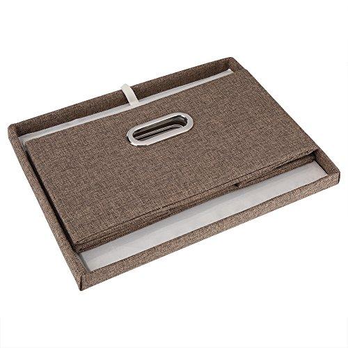 Wilecolly Vikbar förvaringsbox, hopfällbar tygförvaringskorg leksak kläder handduk tvättlåda behållare (grå)