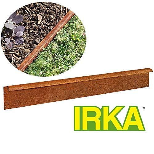 IRKA Rasenkante Corten Stahl Edelrost breit 14 cm Mähkante Beeteinfassung 1 mm