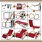 YP Schlafsaal-Bett-Stuhl, Student-fauler Stuhl, College-Schlafsaal-Artefakt-Schaukelstuhl-Liegesessel-Balkon-festes Holz-einzelner Stoff-Innenkreativer Stuhl Sun-Ruhesessel, Garten-Stühle,4