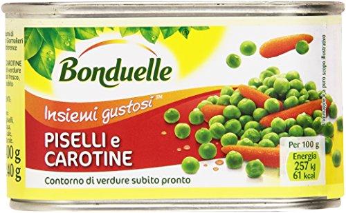 Bonduelle Piselli e Carotine Contorno di Verdure Subito Pronto - 400 gr