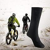 Bestine - Calcetines calefactables para hombre y mujer (3 V/4,5 V, para deportes al aire libre, conducción, camping, equitación, caza, esquí, esquí, calentamiento, invierno