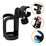 AOBETAK Portaborraccia MTB Bici, Nero Bike Bottle e Cup Holder 360 Gradi Di Rotazione Borraccia Bicicletta;Porta Borraccia Fit Biciclette, MTB, Passeggino e Rotelle