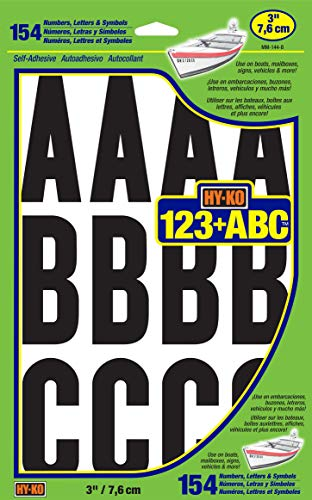 """Number/Letters Boat 3in Vinyl, NULL, 3"""""""