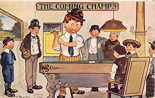 The Coming Champs Max 57% OFF 2021 new Pool Billiards 1910 Postcard Carte Postale Mis
