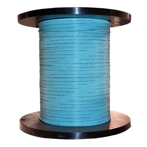 Bulk Zipcord Fiber Optic Cable, Multimode, Duplex, 50/125, OM3, Aqua,...