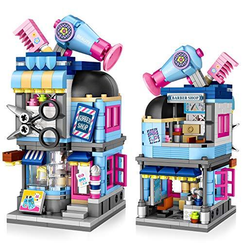 joylink Blocchi di Costruzione, Parrucchiere Blocchi Costruzioni Set 403 Pieces Costruzione Giocattoli Educativi Giocattoli Costruzione Mattoni Giochi Building Blocks Toys per Bambini di 6+ Anni