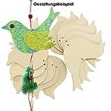 Vogel Holz 12 Stück Vogel Pappel-Sperrholz gelasert Holzvogel Dekoration ca. 14x10
