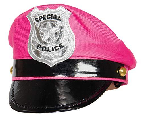 Folat Gorra con Escudo Tiara de policía (Talla única), Color Rosa