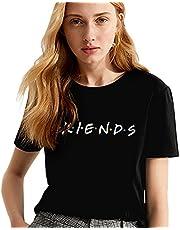 Friends shirt dames shirts zomer lief partnerlook vriend shirt vrouwen bovenstuk tops T-shirt met opdruk letters korte mouwen sport meisjes outdoor vrijetijdskleding 1 stuk