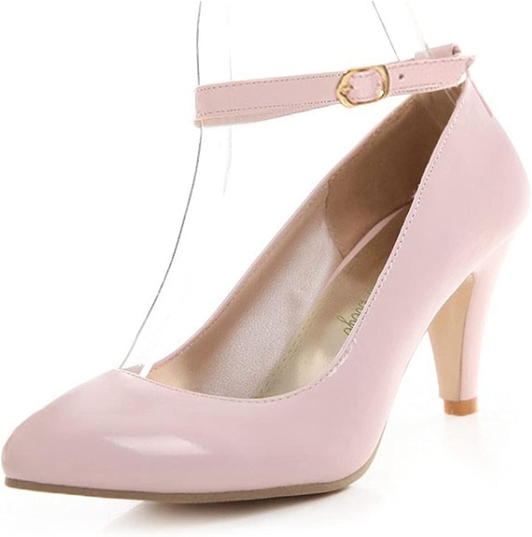 Women's Kitten High Heel Max 82% OFF Pumps Ankle Ladies Elegant Pointe Strap Mail order