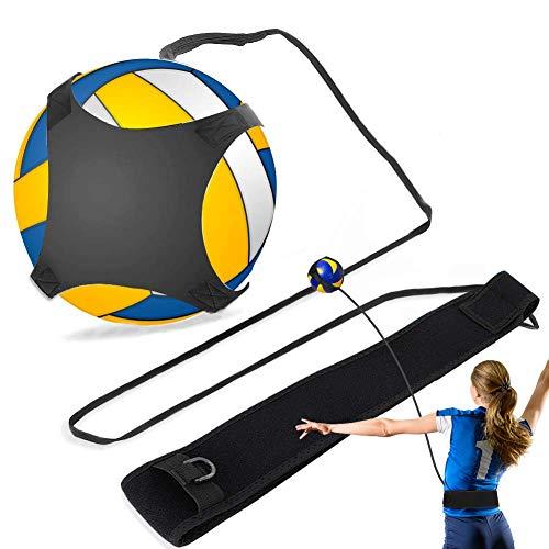 Yosoo Volleyball-Trainingsgeräte Aid, Football Kick Trainer, Verstellbarer Solo Practice Soccer Volleyball Trainer für Kinder Jugend Erwachsener, passend für Größe 3, 4, 5