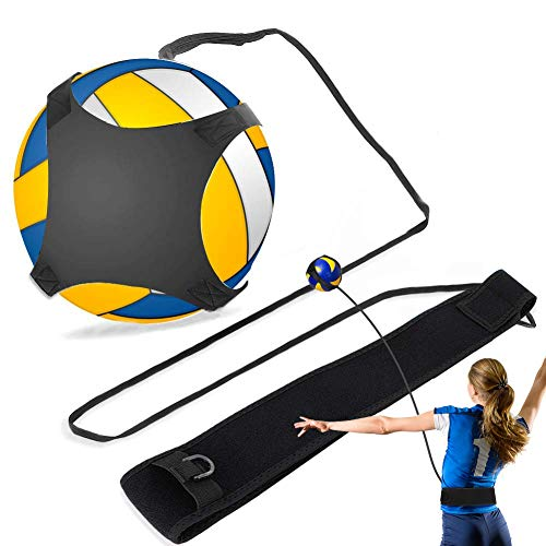 Volleyball Training Equipment, Volleyball Training Aid with Waist Strap for Solo Practice of Arm Swing Rotations, Serving, Spiking and Hitting