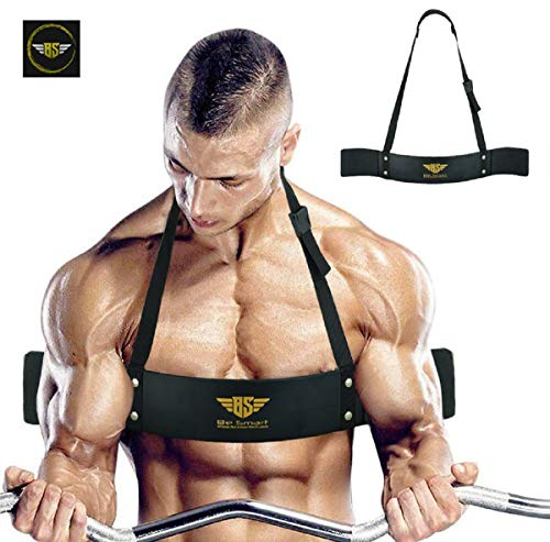 Arm Blaster for Biceps amp Triceps Dumbbells amp Barbells Curls Muscle Builder Bicep Isolator for Big Arms Bodybuilding amp Weight Lifting Support for Strength amp Muscle Gains by Be Smart Black