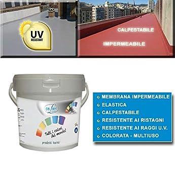 Foto di GUAINA Liquida Impermeabilizzante *GUAINA* Grigia/Bianca/Rossa da 5-20 Kg (5 Kg, Bianco)