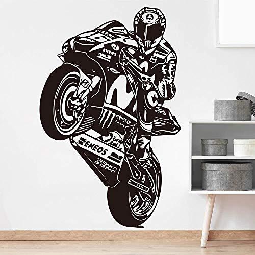 zzlfn3lv Valentino Rossi Der Arzt Autorennen Wandtattoo Jungenzimmer Kinderzimmer VR 46 Motorrad Racing Sport Wandaufkleber Wohnzimmer 70 * 45 cm
