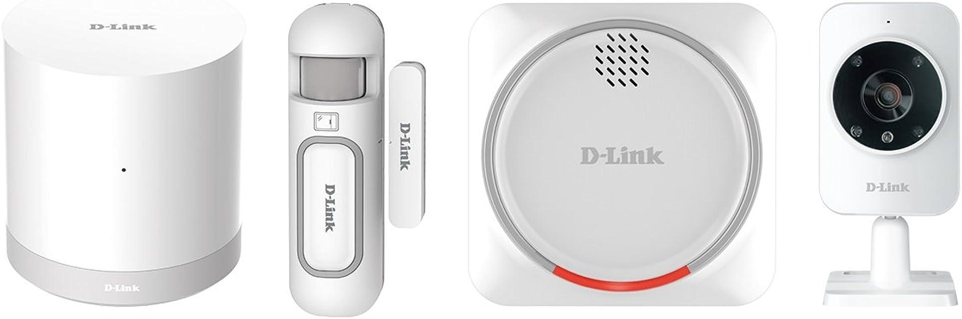 D-Link DCH-107KT - Kit Seguridad domótica WiFi Z-Wave Sirena Sensor de Apertura hub WiFi Z-Wave y cámara de vigilancia por App Gratuita mydlink Home para iOS y Android