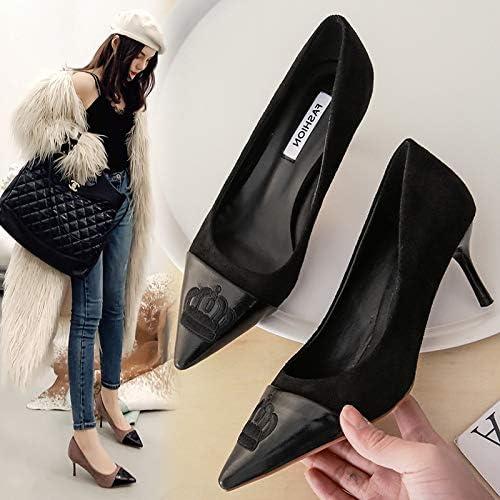 HOESCZS Talons Hauts Printemps Nouvelle Mode Fille Talon Haut A Souligné Chaussures Stiletto Femmes Chaussures Bouche Peu Profonde Chaussures pour Femmes