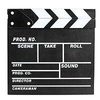 Dealglad木製Director Clapboard Film Movie Clapper Boardカットアクションシーンボードスレート