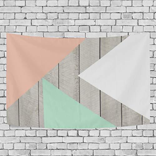 Tapiz para colgar en la pared, diseño de albaricoque, de madera, color gris, moderno, para decoración del hogar, dormitorio, universidad, sala de estar, 51 x 60 pulgadas