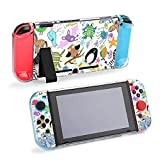 Case for Nintendo Switch,Children Drawings Pattern with Animals Protective Case Cover for Nintendo Switch Funny Fashion Switch Game Shell Handheld Grip Protector Cover