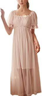 Womens' Summer Lace Vintage Nightgown Victorian Princess Nightdress Chemises Babydoll Pajamas Lounger Sleepwear