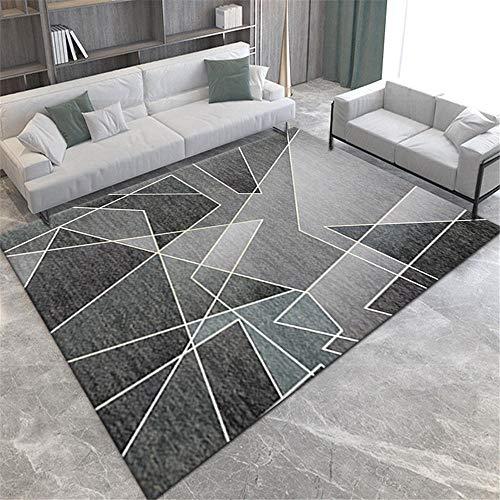 cojin suelo grande decoracion comedor La alfombra del salón es gris, resistente a la suciedad, resistente al desgaste, lavable a máquina y no se decolora alfombra salon grande 200X300CM 6ft 6.7'X9ft 1