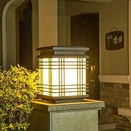 Lámpara de Columna de Iluminación Exterior El estigma simple nórdica creativo, Hierro forjado Pantallas de iluminación, LED de la lámpara del césped a prueba de agua, decorativo Terraza aplique de jar